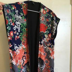 Colorful Asian style kimono wrap
